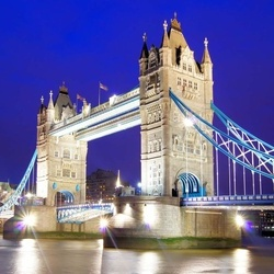 London Tower Bridge At Night Photo Wallpaper Wall Mural