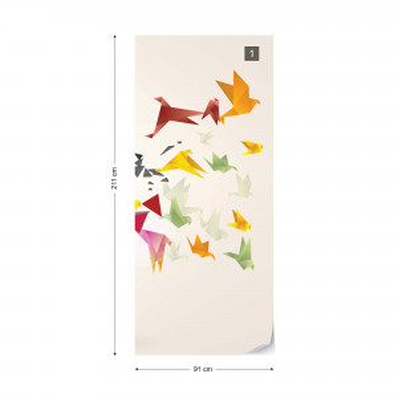 Modern 3D Design Polygon Birds Photo Wallpaper Wall Mural