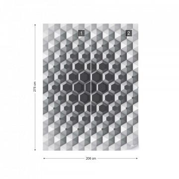 Modern 3D Hexagonal Design Photo Wallpaper Wall Mural