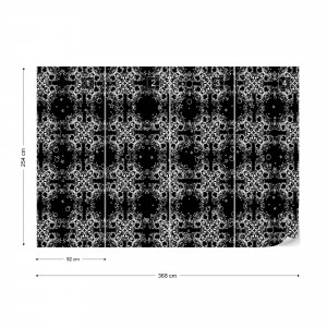 Modern Abstract Pattern Black And White Photo Wallpaper Wall Mural