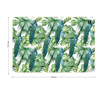 Modern Tropical Pattern Photo Wallpaper Wall Mural
