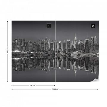 New York – Reflexie în Apă, Alb-Negru