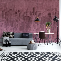 New York City Grunge I Pink
