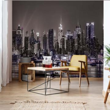 New York City Skyline At Night Photo Wallpaper Wall Mural