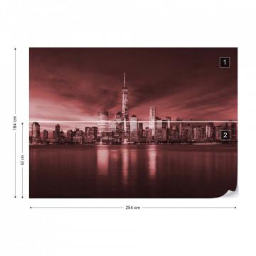 New York City Sunrise in Red