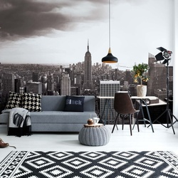 New York Skyline Empire State Building Black And White Photo Wallpaper Wall Mural