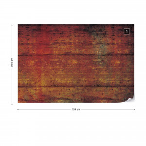 Painted Wood Texture Photo Wallpaper Wall Mural