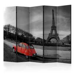 Paravan - Eiffel Tower and red car II [Room Dividers]