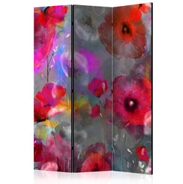 Paravan - Painted Poppies [Room Dividers]