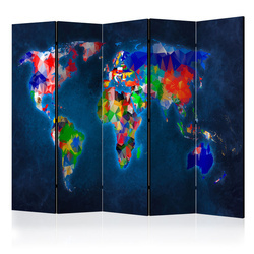 Paravan - Room divider – Colorful map