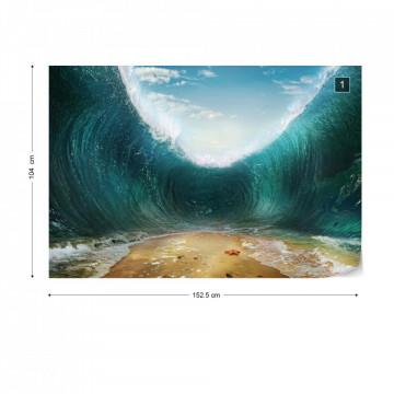 Parting Waves Ocean Photo Wallpaper Wall Mural