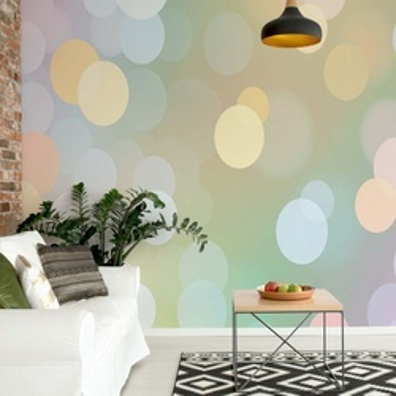 Pastel Bokeh Photo Wallpaper Wall Mural