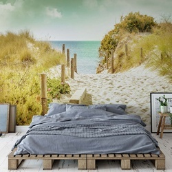 Pastel Colours Beach Sand Dune Path Photo Wallpaper Wall Mural