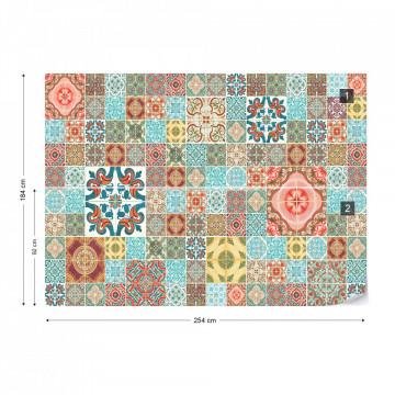 Pattern Vintage Tiles Photo Wallpaper Wall Mural