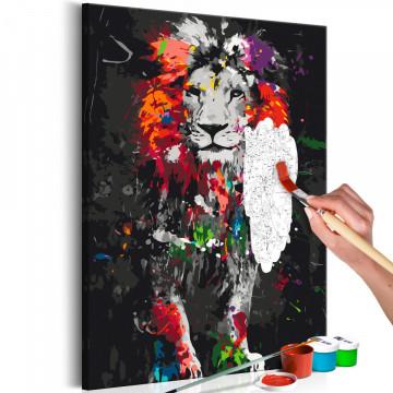 Pictatul pentru recreere - Colourful Animals: Lion
