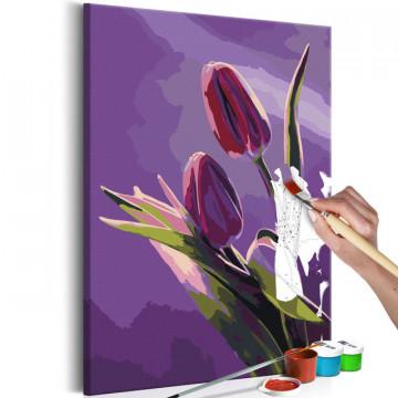 Pictatul pentru recreere - Tulips (Purple Background)