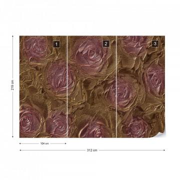 Pink Roses Abstract Texture Photo Wallpaper Wall Mural