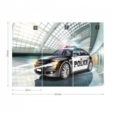 Police Car Photo Wallpaper Wall Mural