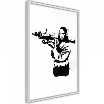 Poster - Banksy: Mona Lisa with Bazooka II