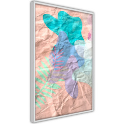 Poster - Colourful Camouflage (Peach)
