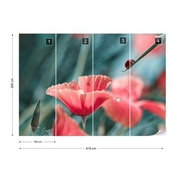Red Ink Refill Photo Wallpaper Mural