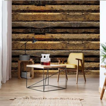 Rustic Wood Texture Photo Wallpaper Wall Mural