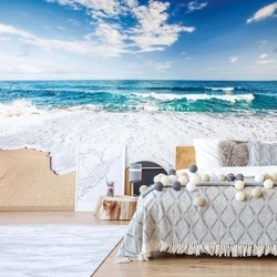 Sea And Sand Beach Photo Wallpaper Wall Mural