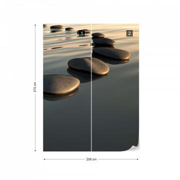 Stones Ripples Zen Photo Wallpaper Wall Mural