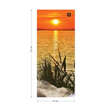 Sunset Coast Photo Wallpaper Wall Mural