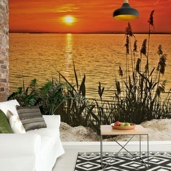 Sunset Coast Photo Wallpaper Wall Mural