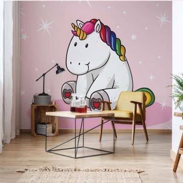 Sweet Unicorn Pink Photo Wallpaper Wall Mural