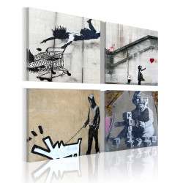 Tablou - Banksy - four orginal ideas