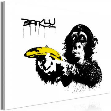 Tablou - Banksy: Monkey with Banana (1 Part) Wide