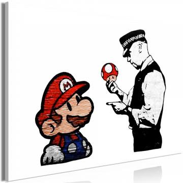 Tablou - Banksy: Mushroom Picker (1 Part) Wide