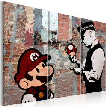 Tablou - Banksy: Warning