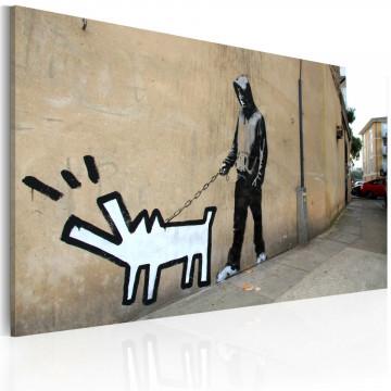 Tablou - Barking dog (Banksy)