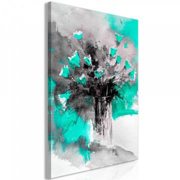 Tablou - Bouquet of Colours (1 Part) Vertical Green