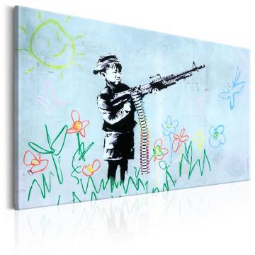 Tablou - Boy with Gun by Banksy