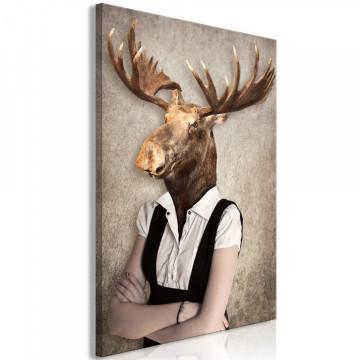 Tablou - Brainy Moose (1 Part) Vertical