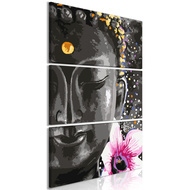 Tablou - Buddha and Flower (3 Parts) Vertical