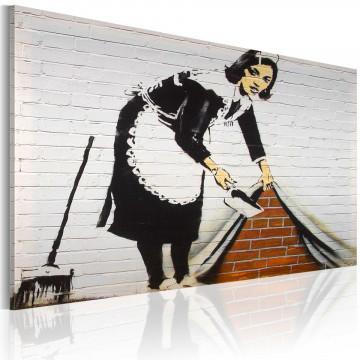Tablou - Cleaning lady (Banksy)