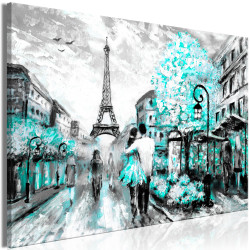 Tablou - Colourful Rendez-Vous (1 Part) Wide Turquoise
