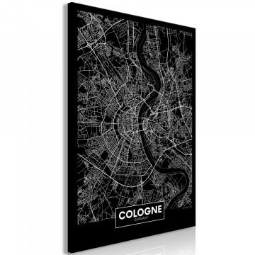 Tablou - Dark Map of Cologne (1 Part) Vertical