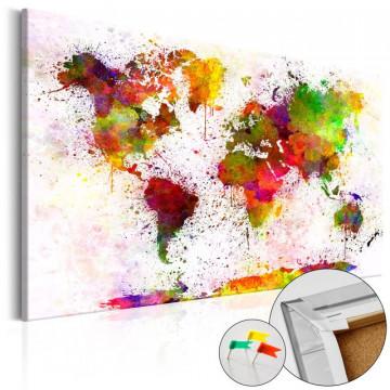 Tablou din plută - Artistic World [Cork Map]