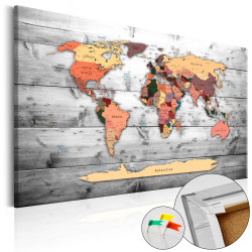 Tablou din plută - Direction World [Cork Map]