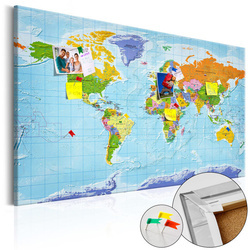 Tablou din plută - World Map: Countries Flags [Cork Map]