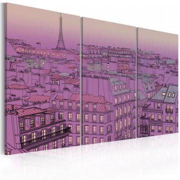 Tablou - Eiffel Tower in lilac colour
