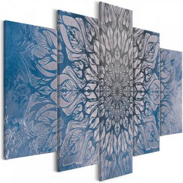 Tablou - Hypnosis (5 Parts) Blue Wide