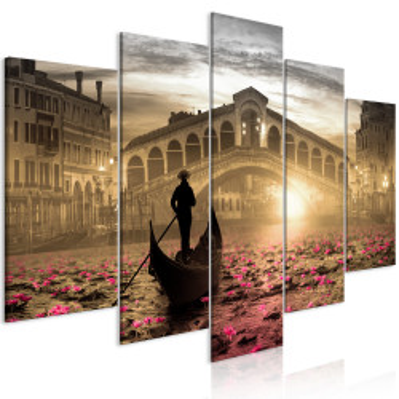 Tablou - Magic Venice (5 Parts) Wide Orange