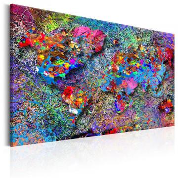 Tablou - Map: Jackson Pollock inspiration